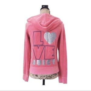 Juicy Couture pink velour hoodie
